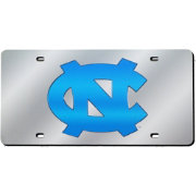 Rico North Carolina Tar Heels Silver Laser Tag License Plate