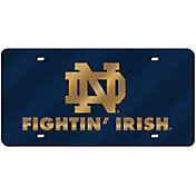 Rico Notre Dame Fighting Irish Navy Laser Tag Plate