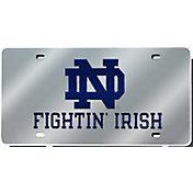 Rico Notre Dame Fighting Irish Silver Laser Tag License Plate