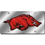 Rico Arkansas Razorbacks Silver Laser Tag License Plate