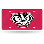 Rico Wisconsin Badgers Red Laser Tag License Plate