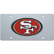 Rico San Francisco 49ers Silver Laser Tag License Plate