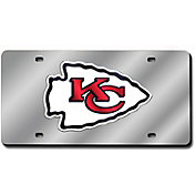 Rico Kansas City Chiefs Silver Laser Tag License Plate