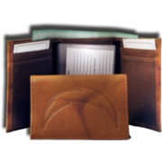 Rico NFL San Diego Chargers Embossed Tri-Fold Wallet