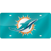 Rico Miami Dolphins Teal Base Laser Tag License Plate