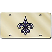 Rico New Orleans Saints Gold Laser Tag License Plate
