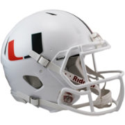 Riddell Miami Hurricanes Speed Revolution Authentic Full-Size Football Helmet