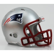 Riddell New England Patriots Pocket Size Color Chrome Helmet