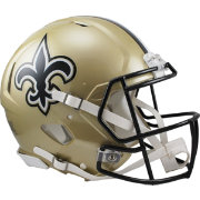 Riddell New Orleans Saints Revolution Speed Football Helmet