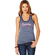 Soft As A Grape Women's Atlanta Braves Navy Shadow Tank