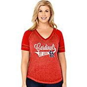 Soft As A Grape Women's St. Louis Cardinals V-Neck Shirt