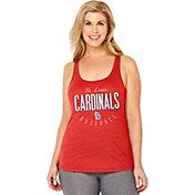 Soft As A Grape Women's St. Louis Cardinals Red Tri-Blend Tank Top