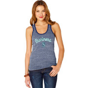 Soft As A Grape Women's Seattle Mariners Navy Shadow Tank