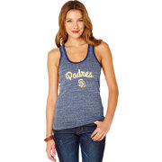 Soft As A Grape Women's San Diego Padres Navy Shadow Tank