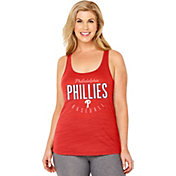 Soft As A Grape Women's Philadelphia Phillies Red Tri-Blend Tank Top