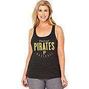 Soft As A Grape Women's Pittsburgh Pirates Black Tri-Blend Tank Top