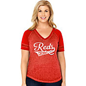 Soft As A Grape Women's Cincinnati Reds V-Neck Shirt