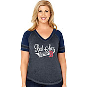 Soft As A Grape Women's Boston Red Sox V-Neck Shirt