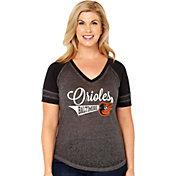 Soft As A Grape Women's Baltimore Orioles V-Neck Shirt