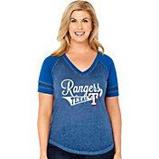 Soft As A Grape Women's Texas Rangers V-Neck Shirt