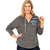 Soft As A Grape Women's Kansas City Royals Grey Hoodie
