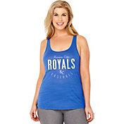 Soft As A Grape Women's Kansas City Royals Royal Tri-Blend Tank Top
