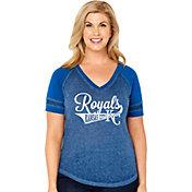Soft As A Grape Women's Kansas City Royals V-Neck Shirt