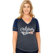 Soft As A Grape Women's Houston Astros V-Neck Shirt