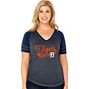 Soft As A Grape Women's Detroit Tigers V-Neck Shirt