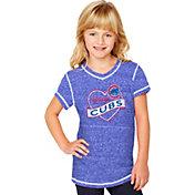 Soft As A Grape Youth Girls' Chicago Cubs Royal V-Neck Shirt