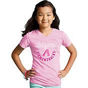 Soft As A Grape Youth Girls' Arizona Diamondbacks Pink V-Neck Shirt