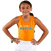 Soft As A Grape Youth Girls' Miami Marlins Orange Tank Top