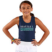 Soft As A Grape Youth Girls' Seattle Mariners Navy Tank Top