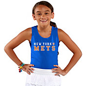 Soft As A Grape Youth Girls' New York Mets Royal Tank Top