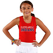 Soft As A Grape Youth Girls' Cleveland Indians Red Tank Top