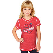Soft As A Grape Youth Girls' Los Angeles Angels Red V-Neck Shirt