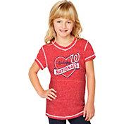 Soft As A Grape Youth Girls' Washington Nationals Red V-Neck Shirt