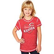 Soft As A Grape Youth Girls' Cincinnati Reds Red V-Neck Shirt