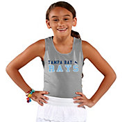 Soft As A Grape Youth Girls' Tampa Bay Rays Grey Tank Top