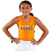 Soft As A Grape Youth Girls' Detroit Tigers Orange Tank Top
