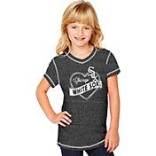 Soft As A Grape Youth Girls' Chicago White Sox Black V-Neck Shirt
