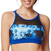 Shape Active Women's Mesh Inset Printed Sports Bra