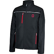 Scarlet & Gray Men's Ohio State Buckeyes Marlo Black Softshell Jacket