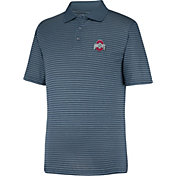 Scarlet & Gray Men's Ohio State Buckeyes Gray Linebacker Polo