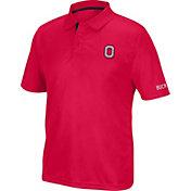 Scarlet & Gray Men's Ohio State Buckeyes Scarlet Pregame Polo