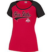 Scarlet & Gray Women's Ohio State Buckeyes Scarlet/Black Pitch Perfect T-Shirt