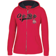 Scarlet & Gray Women's Ohio State Buckeyes Scarlet Essential Full-Zip Hoodie
