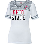 Scarlet & Gray Women's Ohio State Buckeyes White/Gray MVP T-Shirt