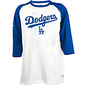 Stitches Men's Los Angeles Dodgers Raglan Three-Quarter Sleeve Shirt
