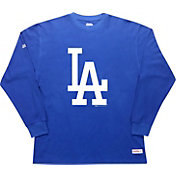 Stitches Men's Los Angeles Dodgers Thermal Royal Long Sleeve Fleece